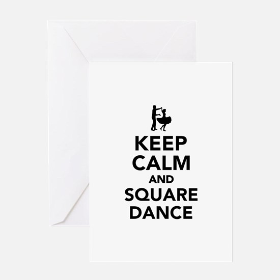 Keep calm and square dance Greeting Card