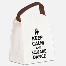 Keep calm and square dance Canvas Lunch Bag