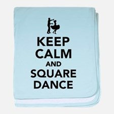 Keep calm and square dance baby blanket