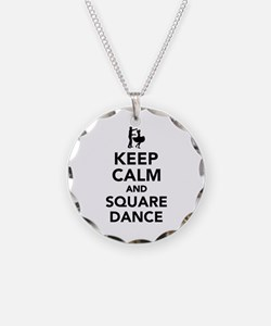 Keep calm and square dance Necklace