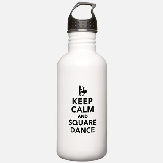 Keep calm and square d Water Bottle