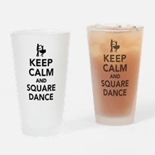 Keep calm and square dance Drinking Glass