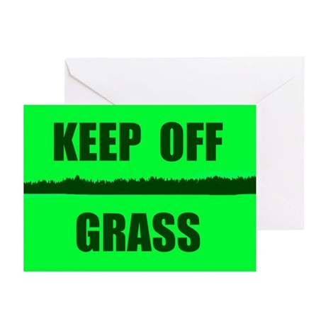 KEEP OFF GRASS Greeting Cards (Pk of 10)