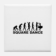 Evolution square dance Tile Coaster