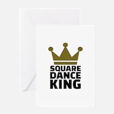 Square dance king Greeting Card