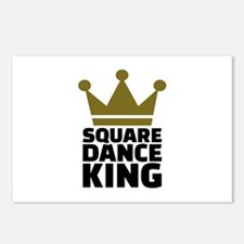 Square dance king Postcards (Package of 8)