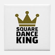 Square dance king Tile Coaster