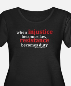 Injustice Resistance Plus Size T-Shirt