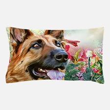 German Shepherd Painting Pillow Case