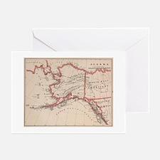 Vintage Map of Alaska (1883) Greeting Cards