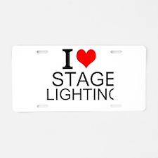 I Love Stage Lighting Aluminum License Plate
