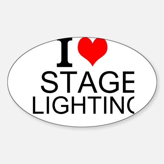 I Love Stage Lighting Decal
