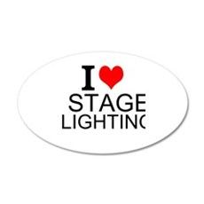 I Love Stage Lighting Wall Decal