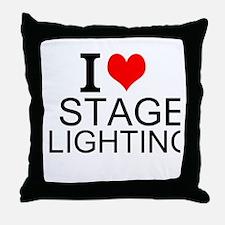 I Love Stage Lighting Throw Pillow