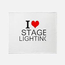 I Love Stage Lighting Throw Blanket