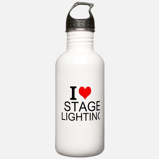 I Love Stage Lighting Water Bottle