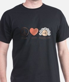Peace Love Beethoven Natural T-Shirt