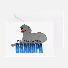 Weimaraner Grandpa Greeting Card