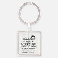 Cool Cardio Square Keychain