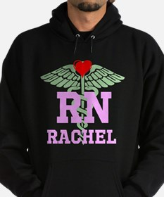 Personalized RN heart caduceus Hoodie