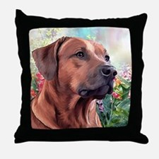 Rhodesian Ridgeback Painting Throw Pillow
