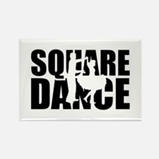 Square dance Rectangle Magnet (100 pack)