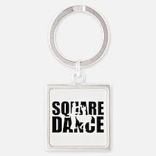 Square dance Square Keychain