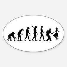 Evolution swing dance Sticker (Oval)