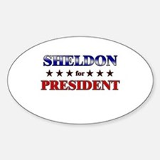 SHELDON for president Oval Decal