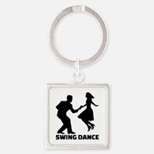Swing dance Square Keychain