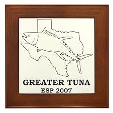 Greater Tuna Framed Tile
