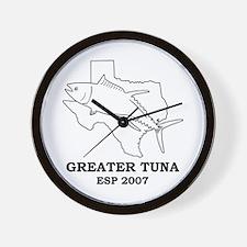Greater Tuna Wall Clock