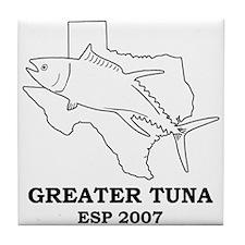 Greater Tuna Tile Coaster