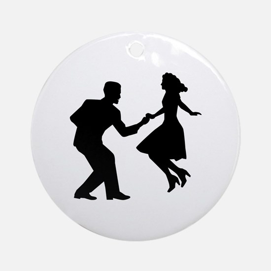 Swing dancing Round Ornament