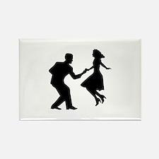 Swing dancing Rectangle Magnet