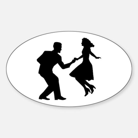 Swing dancing Sticker (Oval)