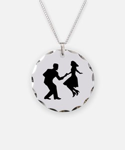 Swing dancing Necklace Circle Charm