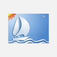 Summer Sailing 5'x7'Area Rug