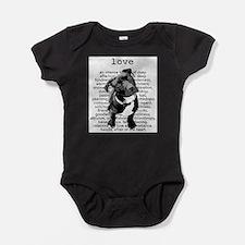 Cute Pit bulls Baby Bodysuit