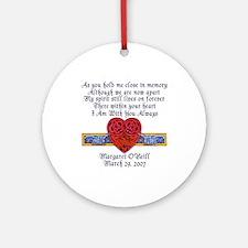Celtic Heart Memorial Ornament (Round)