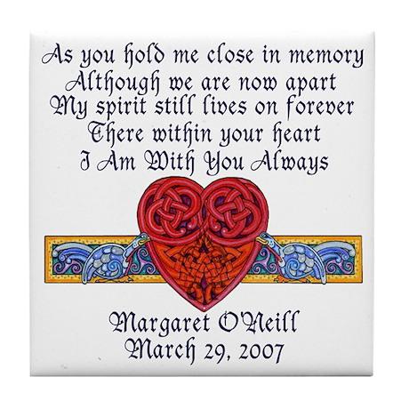 Celtic Heart Memorial Tile Coaster