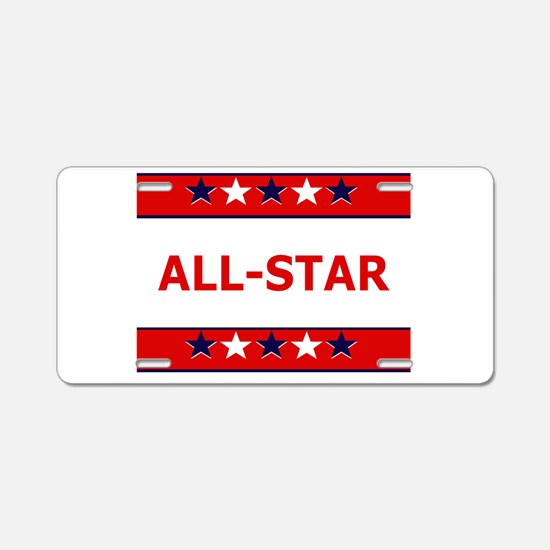 ALL STAR Aluminum License Plate