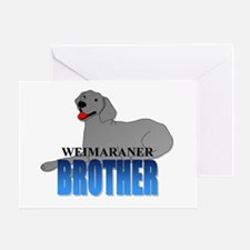 Weimaraner Brother Greeting Card