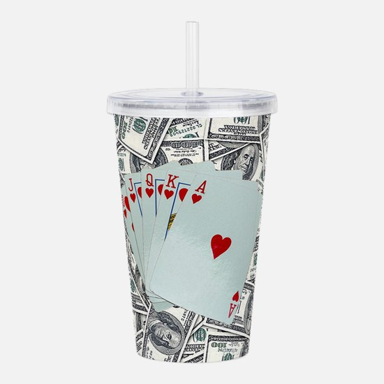 Royal Flush Hearts Acrylic Double-wall Tumbler