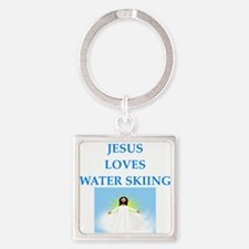 water skiing Keychains