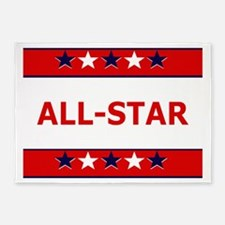 ALL STAR 5'x7'Area Rug