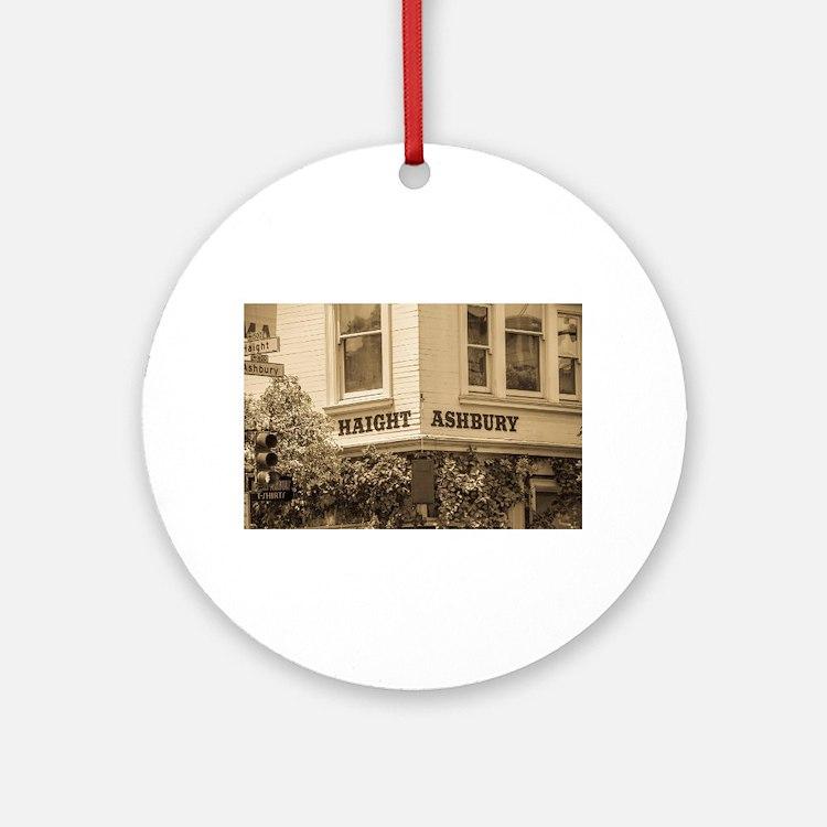 Haight Ashbury Round Ornament