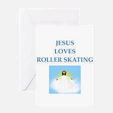 roller skating Greeting Cards
