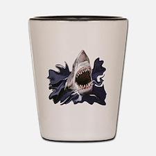 Cute Great white shark Shot Glass