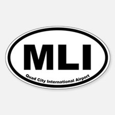 Quad City International Airport Oval Decal